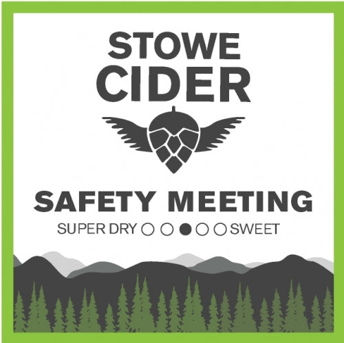 "Stowe Cider ""Safety Meeting"" Dry Hopped Cider"
