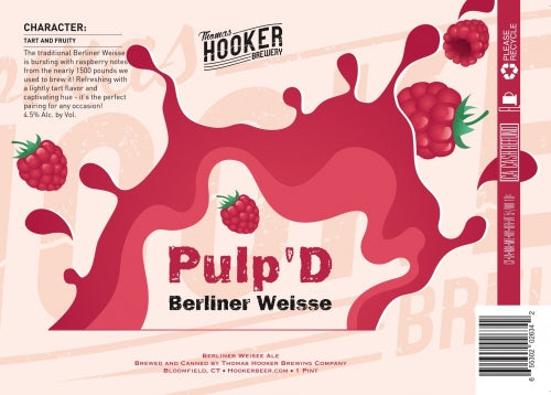 "Thomas Hooker Brewing ""Pulp'D"" Raspberry Berliner Weisse"