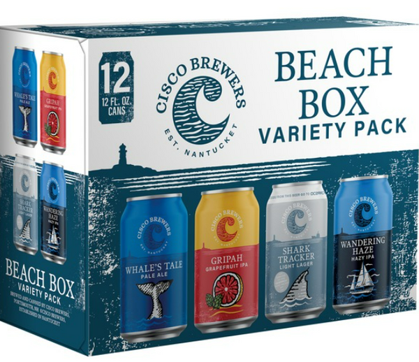 "Cisco Brewers ""Beach Box"" Variety 12pk Cans"