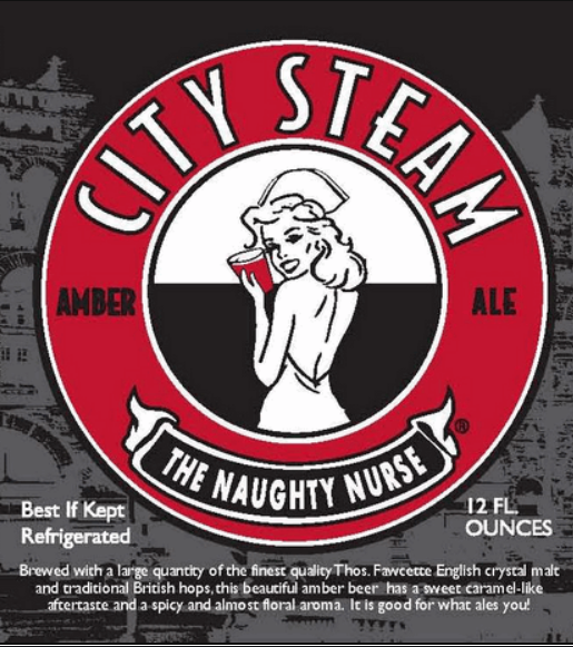 "City Steam Brewery ""Naughty Nurse"" Amber Ale"