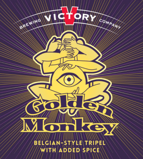 "Victory Brewing ""Golden Monkey"" Belgian-Style Tripel Ale with Added Spice"