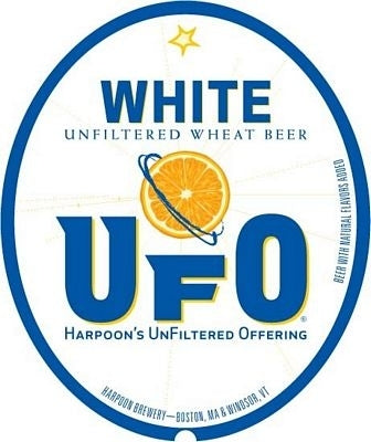 "Harpoon Brewing ""UFO White"" Unfiltered Wheat Beer"
