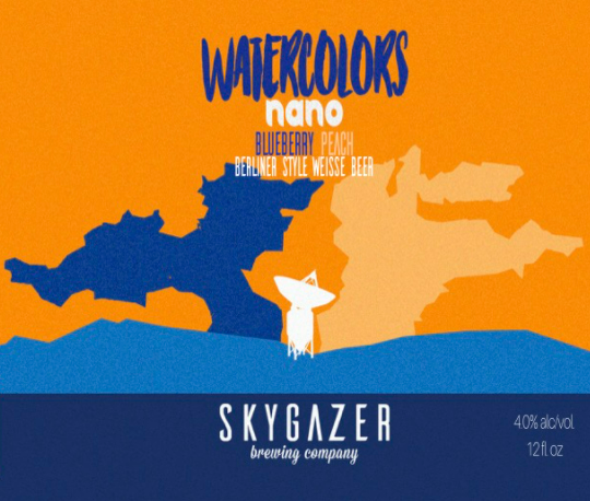 "Skygazer Brewing ""Watercolors Nano Blueberry Peach"" Sour Berliner"