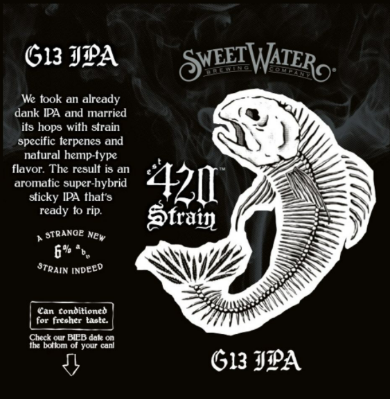 "Sweetwater Brewing ""420 Strain G13"" IPA"