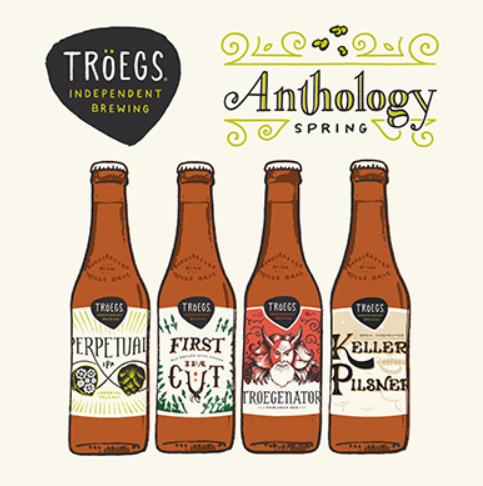 "Troeg's Independent Brewing ""Anthology Spring"" Variety Pack Bottles"