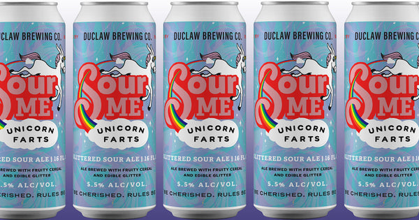 "Duclaw Brewing ""Sour Me Unicorn Farts"" Glittered Sour Ale"