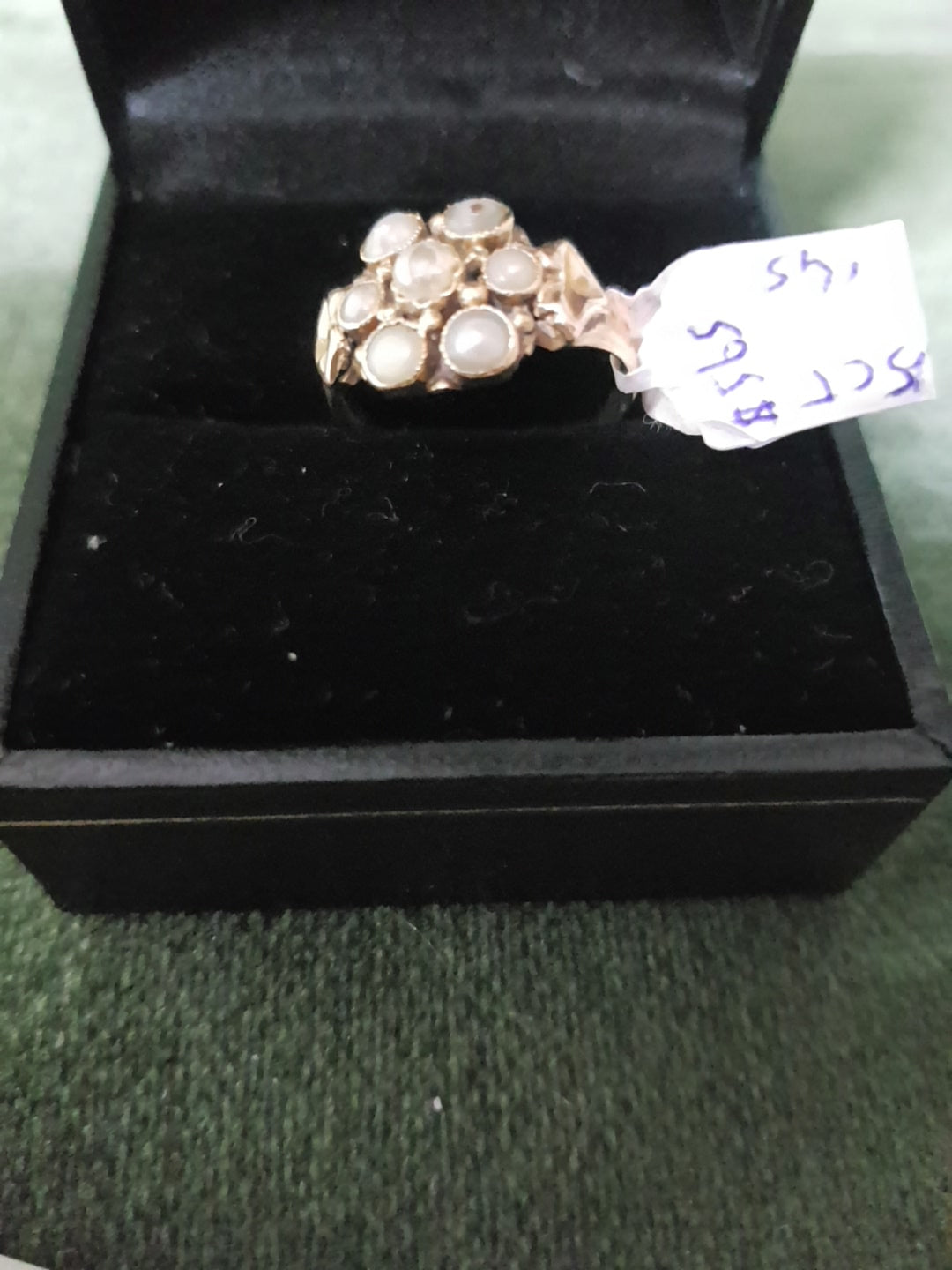 15ct Gold and Seed Pearls ring #145