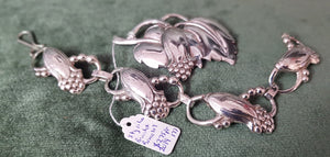 c1970 Sterling Silver brooch and bracelet Europe #177