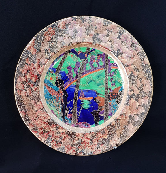 Daisy Makeig Jones Wedgewood Fairy Lustre Imps on a Bridge c1930 Porcelain Plate  [BD016]