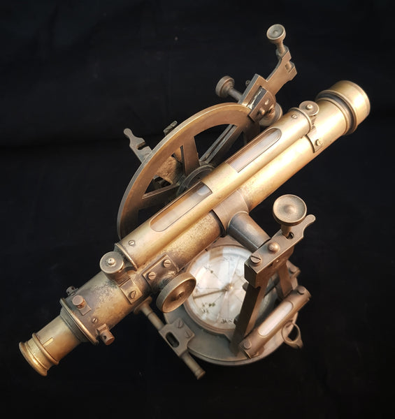"Brass Theodolite retailed by ""Brush & Drummond"" Melbourne c1900/1890 [BD046]"