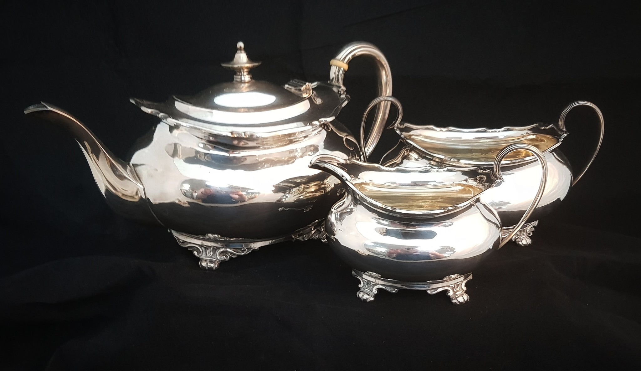 Sheffield Sterling Silver 3 piece Tea Set