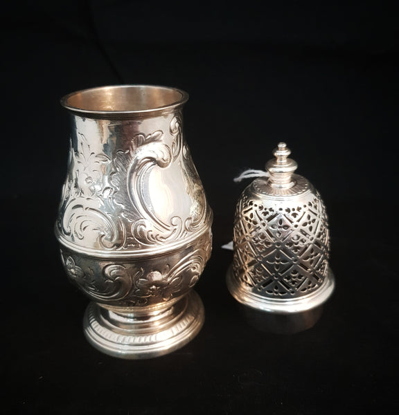 Unmarked Continental Silver Sugar Caster c1950 [BD062]