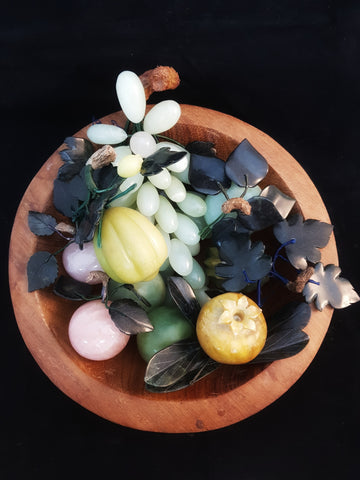 Mixed Stone and Crystal Fruit, Asian origin