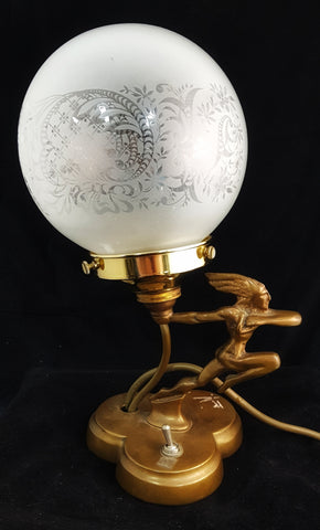 Hermes Greek God Brass lamp
