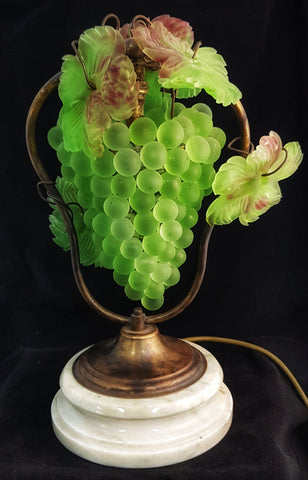 Italian Glass Grape Lamp
