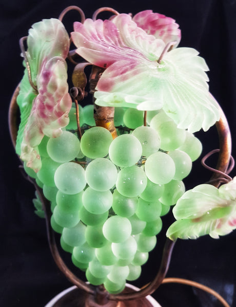 Italian Glass Grape Lamp c1930-40 [BD073]