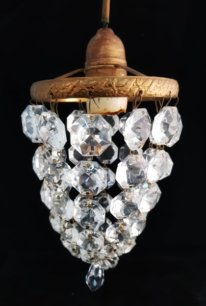 Pair of Crystal and Plaster Cupid Lights [BD077]
