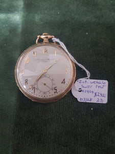 c1924 14ct Swiss International Watch Company pocket watch #271