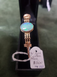 c1980 9ct Gold and synthetic Opal bracelet #293