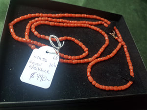 c1970 Coral necklace #306