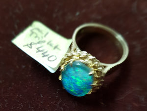 c1980 9ct and Opal ring #3