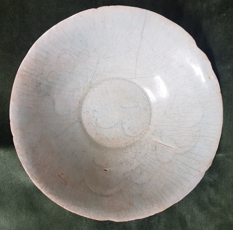 C12th/13th Song/Yuan dynasty ceramic bowl Qingbai ware China 18.2cm dm #479