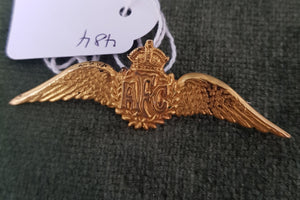 c1910 A.F.C Australian Flying Corp 15ct Gold winged brooch (new pin) #484