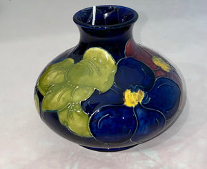 c.1960 W.M. Moorcroft Vase Clematis English Ceramic
