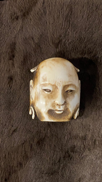 Late 19th Century Chinese Ivory Carved Head