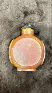 Late Qing Agate Snuff Bottle and Silver Stopper