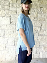 Summer Breeze Mineral Washed Sky Blue Top