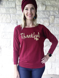 Thankful Distressed Sweater Black