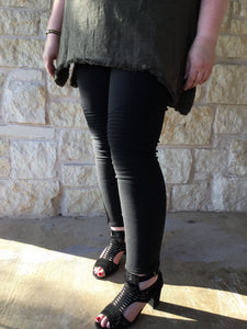 Moto Jeggings with Pockets - Black