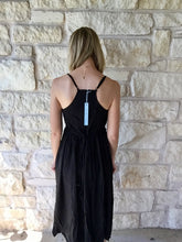 Black Halter Midi Dress