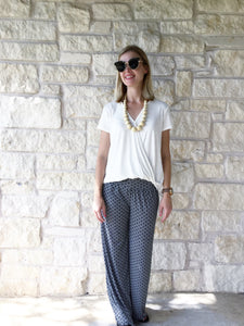 The Everything Palazzo Pants - Black/White