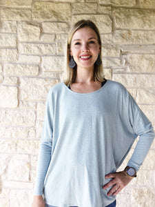 Brainless Backless Soft Sage Top