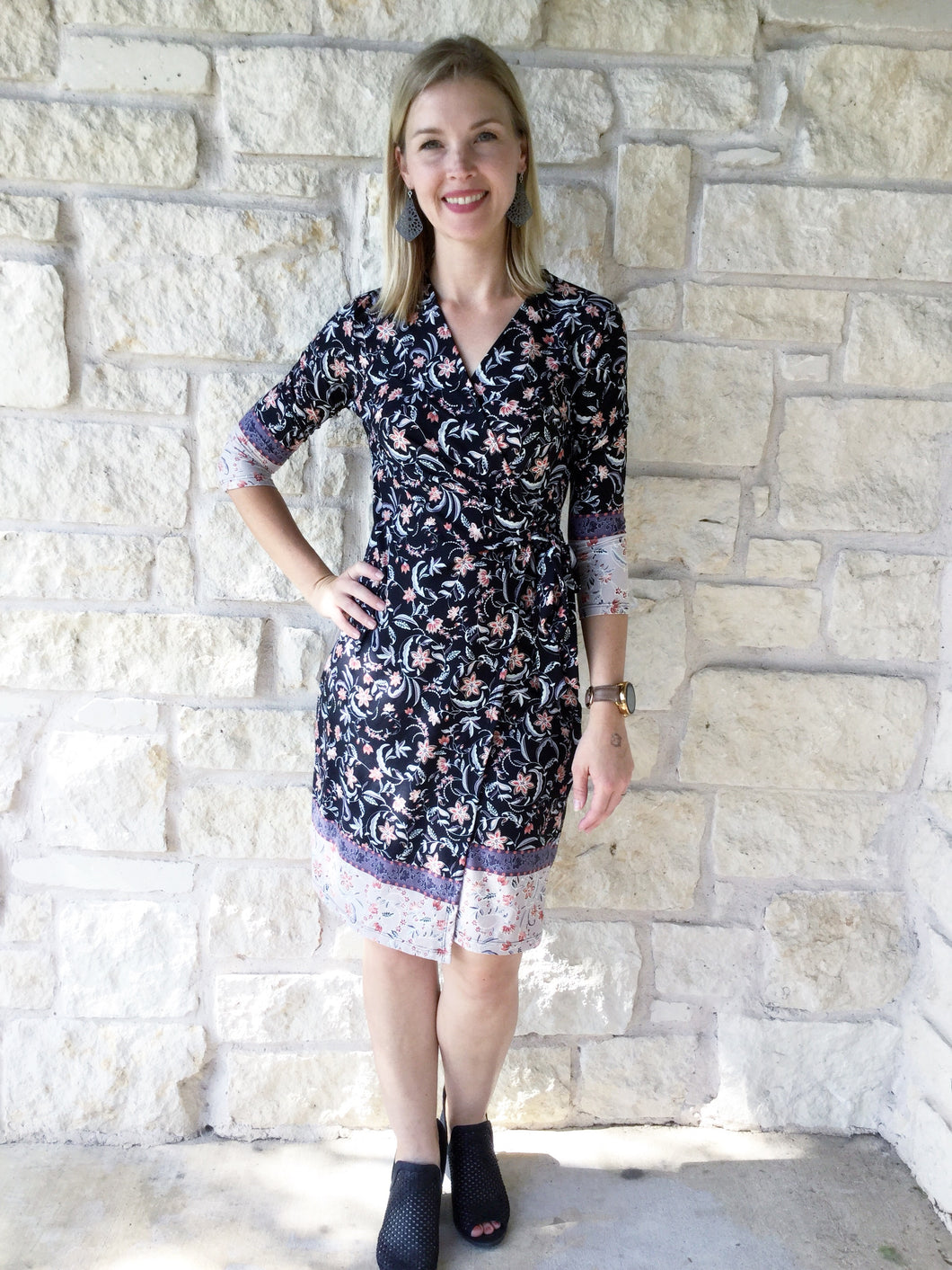 Buttery Soft Fakeout Wrap Dress (Not!)