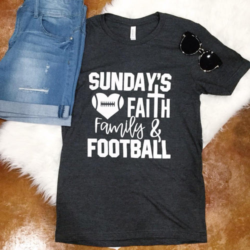 Sunday Faith Football T-Shirt