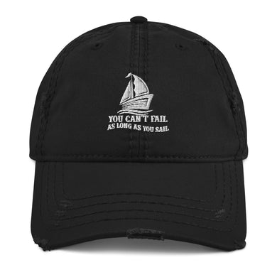 Distressed Dad Hat, no fail when sail-Marine-Local Webstore