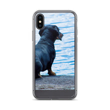 Load image into Gallery viewer, iPhone Case, dachshund staring at sea-Dachshund-Local Webstore