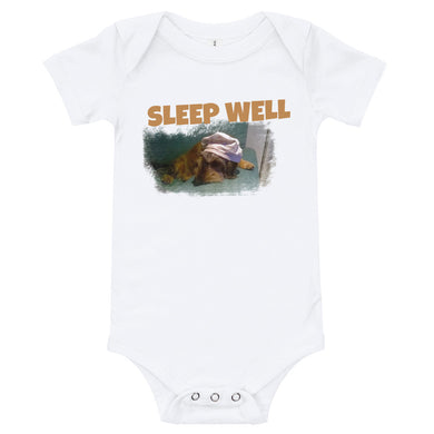 Baby Bodysuit, Sleep well and Dachshund-Dachshund-Local Webstore
