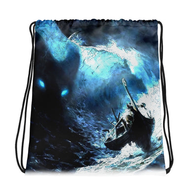 Drawstring bag, stormy ocean - Local Web Store - [product type] Collection
