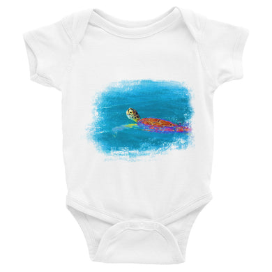 Infant Bodysuit, swimming turtle-Marine-Local Webstore