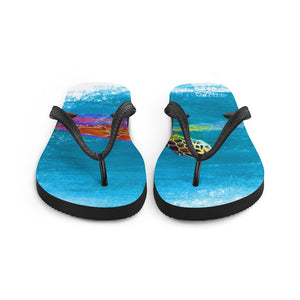 Flip-Flops, swimming turtle - Local Web Store - [product type] Collection