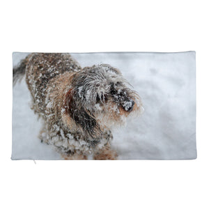 Premium Pillow Case, dachshund in snow-Dachshund-Local Webstore