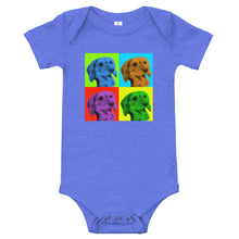 Load image into Gallery viewer, Baby bodysuit, Andy Warhol dachshund-Dachshund-Local Webstore