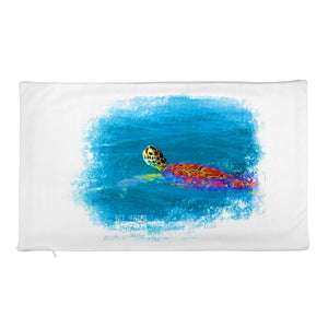 Premium Pillow Case, swimming turtle - Local Web Store - [product type] Collection