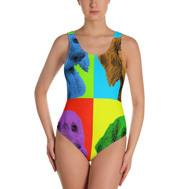 One-Piece Swimsuit, Andy Warhol dachshund-Dachshund-Local Webstore