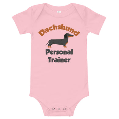 Baby bodysuit, personal trainer dachshund - Local Web Store - [product type] Collection