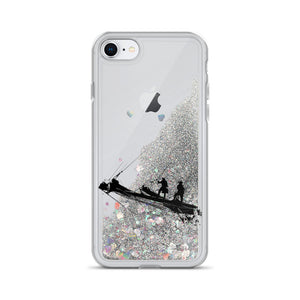 Liquid Glitter Phone Case, tall ship bow - Local Web Store - [product type] Collection
